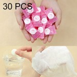 30 PCS Candy Style Portable Disposable Travel Cotton Towel, Size: 22*20cm