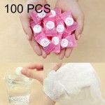 100 PCS Candy Style Portable Disposable Travel Cotton Towel, Size: 22*20cm