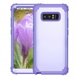 For Samsung Galaxy Note 8 Silicone + PC Dropproof Combination Protective Case(Purple)