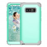 For Samsung Galaxy Note 8 Silicone + PC Dropproof Combination Protective Case(Mint Green)