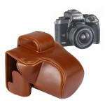 Full Body Camera PU Leather Case Bag with Strap for Canon EOS M5 (Brown)