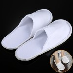 Hotel Supplies One Pair Portable Disposable Travel Slippers, Length: 26cm(White)