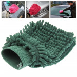 Chenille Fiber Car Cleaning Glove (Random Color Delivery)