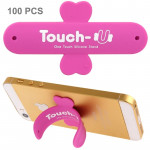 Support Holder Magenta pour iPhone, Galaxy, Huawei, Xiaomi, LG, HTC et autres smartphone 100 PCS Tactile One Touch Universel ...