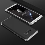 GKK for Samsung Galaxy Note 8 PC Three - paragraph Shield 360 Degrees Full Coverage Protective Case Back Cover(Black + Silver)