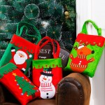 Christmas Dinner Table Decoration Candy Bag, Thickened Non-woven Fabric Kids Gifts Bags, Random Color Delivery