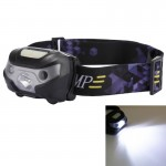 5W 140LM 4-Modes Outdoor Mini USB Charging Body Motion Sensor Waterproof White Light LED HeadLamp with USB Cable for Running / F