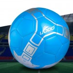 21.5cm PU Leather Sewing Wearable Match Football (Blue)