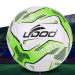 19cm PU Leather Sewing Wearable Match Football (Fluorescent Green)