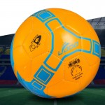 Ballon orange 19cm cuir PU couture portable match de football - Wewoo