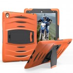 For iPad Pro 10.5 inch Wave Texture Series PC + Silicone Protective Case with Holder (Orange)