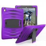 For iPad Pro 10.5 inch Wave Texture Series PC + Silicone Protective Case with Holder (Purple)