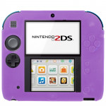 Pure Color Ultra Thin Silicone Case for Nintendo 2DS (Purple)