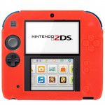 Rouge pour Nintendo 2DS Coque en Silicone Ultra Fin Pure Color - Wewoo