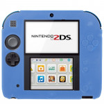Pure Color Ultra Thin Silicone Case for Nintendo 2DS (Blue)