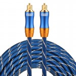 EMK LSYJ-A 15m OD6.0mm Gold Plated Metal Head Toslink Male to Male Digital Optical Audio Cable