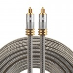 EMK YL-A 15m OD8.0mm Gold Plated Metal Head Toslink Male to Male Digital Optical Audio Cable