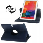 360 Degree Rotatable Litchi Texture Leather Case with 2-angle Viewing Holder for Samsung Galaxy Tab Pro 10.1 / T520 (Dark Blue)