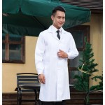 Drugstore Working Clothes Doctor Clothing Long Sleeve Male White Scrubs, Size: M, Height: 170-175cm