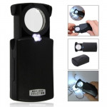Pull-Type Jewellry Magnifier with LED Light Source(Black)