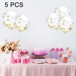 5 PCS 12 inch Transparent Gold Sequins Confetti Balloons, Holiday Party Wedding Decoration Confetti Balloons, Random Style Deliv
