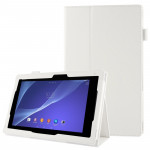Litchi Texture Leather Case with Holder for Sony Xperia Tablet Z2 10.1(White)