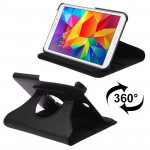 360 Degree Rotatable Litchi Texture Leather Case with 2-angle Viewing Holder for Samsung Galaxy Tab 4 8.0 / SM-T330(Black)