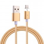 1m Weave Style 2A Magnetic USB-C / Type-C to USB Weave Style Data Sync Charging Cable with LED Indicator, For Samsung Galaxy S8