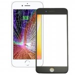 iPartsBuy for iPhone 8 Plus Front Screen Outer Glass Lens with Front LCD Screen Bezel Frame & OCA Optically Clear Adhesive(Black