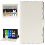 Crazy Horse Texture Flip Leather Case with Credit Card Slots & Holder for Nokia X (White)