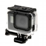 For GoPro HERO6 /5 Skeleton Housing Protective Case + Hollow Back Cover with Buckle Basic Mount & Screw, No Need to Disassemble
