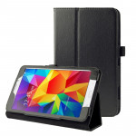Litchi Texture Flip Leather Case with Holder for Samsung Galaxy Tab 4 7.0 / T230 / T231 / T235(Black)