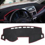 Dark Mat Car Dashboard Cover Car Light Pad Instrument Panel Sunscreen Car Mats for Venucia (Please note the model and year)(Red)