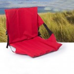 Outdoor Folding Seat Cushion With Backrest, Size: 78*40*2cm(Red)