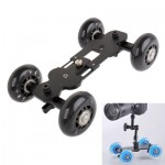 Floor Table Video Slider Track Dolly Car for DSLR Camera (Black)
