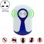 2 PCS 3W Electronic Ultrasonic Anti Mosquito Rat Insect Pest Repeller with Light, UK Plug, AC 90-240V