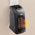 400W Portable Mini Handy Air Heater Warm Fan Blower Heater Radiator Warmer Wall-outlet Space Heater for Office, Home, AC 220-240