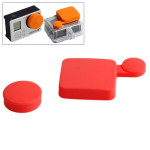 Rouge pour GoPro Hero 4 / 3+ Silicone Cover Set - Wewoo