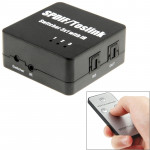 SPDIF / TOSLINK Power Adapter Digital Optical Audio Switcher 3x1 with Remote IR Control