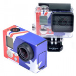 Retro AU Flag Pattern Case Sticker for GoPro Hero 3+ / 3