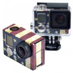 Retro US Flag Pattern Case Sticker for GoPro Hero 3+ / 3