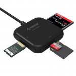 ORICO CRS31A 4 in 1 TF / SD / MS / CF Card to 5Gbps USB 3.0 Multi-function Smart Card Reader with 30cm USB Cable & LED Indicator