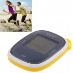 3D All Dimensional Multifunction Digital Electronic Pedometer Step Counter(Yellow)