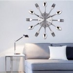 Creative Restaurant Kitchen Living Room Stainless Steel Knife and Fork Quartz Wall Clock