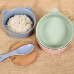 Balcherlam Baby Wheat Stalk Materials Bowls + Spoon Kit, Random Color Delivery
