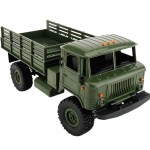 WPL B-24 DIY Assembly 1:16 Mini 4WD RC Military Truck Control Car Toy(Green)