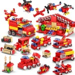 KAZI 16 in 1 Sets Fire Station Building Blocks Compatible City Firefighter Educational Construction Bricks Toys, Age Range: 6 Ye