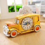 Multi-functional Originality Vintage Car Model Pointer Alarm Clock with Pen Container
