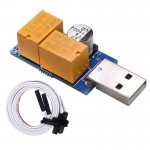 USB Watchdog Card Double Relay Unattended Automatic Restart Blue Screen Crash Timer Reboot for 24H Mining Server Gaming