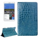 Crocodile Texture Flip Leather Case with Holder for Samsung Galaxy Tab S 8.4 / T700(Blue)